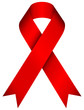 HIV Ribbon 3D Red