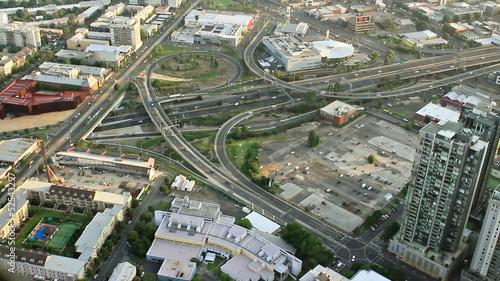 bird's-eye view of Melbourne. Australia