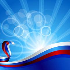 Яркий фон с лентоы в виде флага