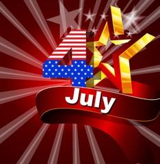 Яркая открытка 4 июля