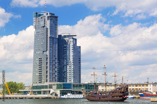Scenery of Gdynia city at Baltic Sea, Poland