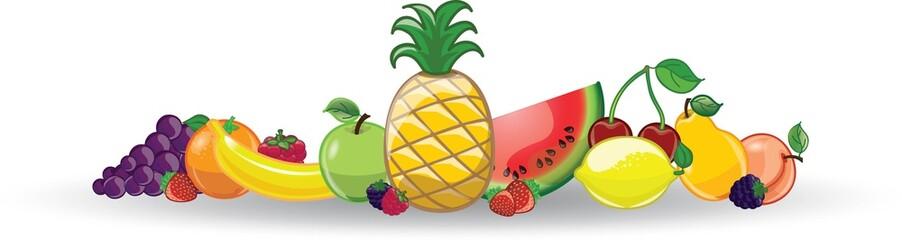 Мультфильм фруктов