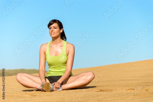 Woman relax and yoga exercise on summer
