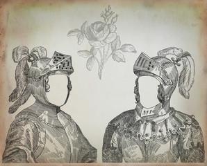 Old knight illustration