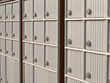 Locker rows of rural Canada Post metal mail box