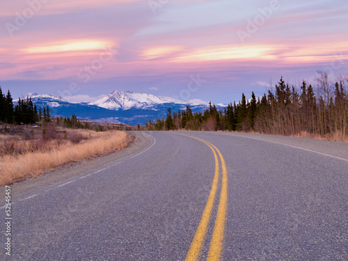 North Klondike Hwy near Whitehorse Yukon Canada