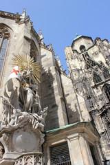 Detail der Fassade des Stephansdoms in Wien