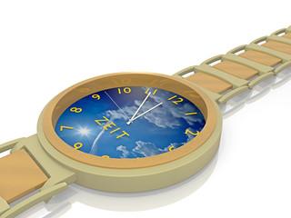Zeit für Erholung / Zeit haben_Armbanduhr - 3D