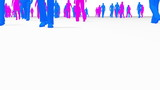 Anonymous Crowd log angle mix of male and female characters poster