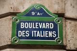 Boulevard des italiens à Paris poster
