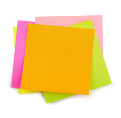 Colorful post-it sticky notes