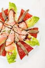 smoked salmon, anchovies, pepper and tuna spanish salad