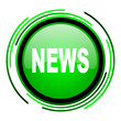 news green circle glossy icon
