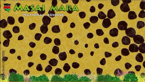 Animation of Masai Mara in Kenya