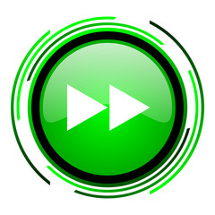 scroll green circle glossy icon