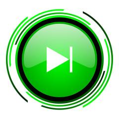 next green circle glossy icon