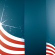 Vector background USA flag and Text