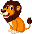 cute lion cartoon expression