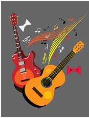 guitars.musical poster