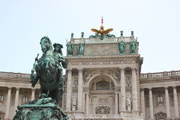 Reiterdenkmal Prinz Eugens vor der Nationalbibliothek in Wien