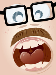 nerd gesicht schreien