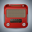 Retro radio vector icon