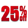 25 percent off digits