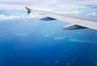Leinwandbild Motiv Airplane Wing In Flight
