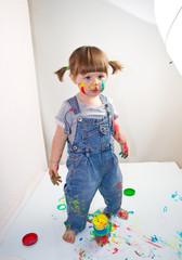 set fotografico con bambina