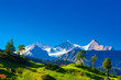 canvas print picture - Alps mountains