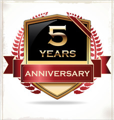 5 years anniversary golden label