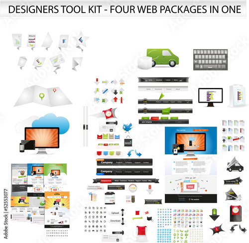 Designers toolkit - Four web packages in one