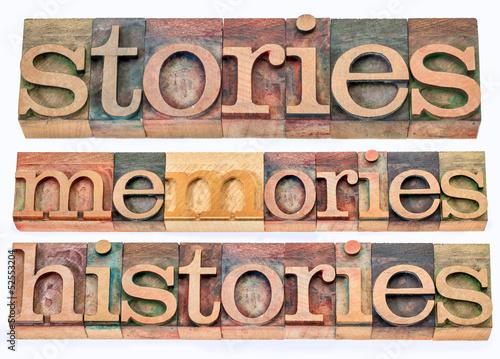 Poster stories, memories, histories