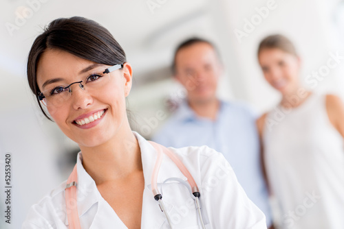 Female doctor at the hospital