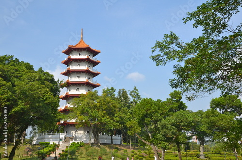 Pagoda in Chinese Gardens in Singapore