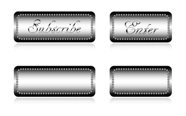 Luxury website buttons