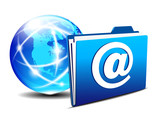 email folder and communication Internet World America