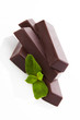 Mint chocolate bar isolated.
