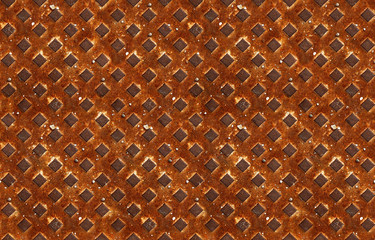 seamless pattern of textured rusty metal