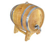 Wooden barrel. 3D image