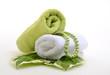 Wellness Grün Perlen Handtücher