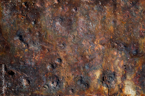 Texture old rust steel plate
