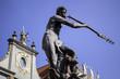 God of sea. Neptune's statue.