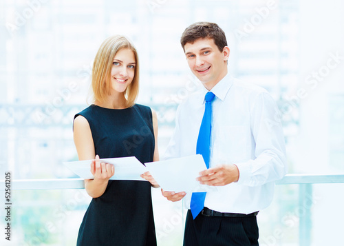 Two young business collegues.