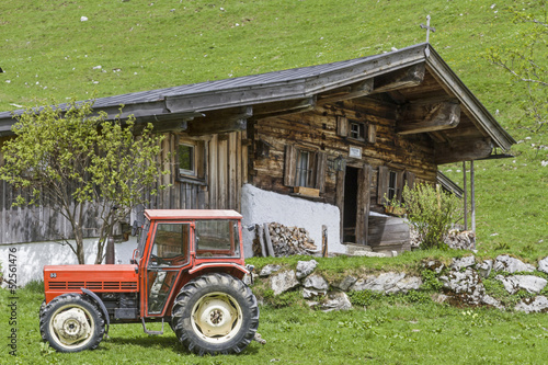 Leinwanddruck Bild Hagenalm in Tirol