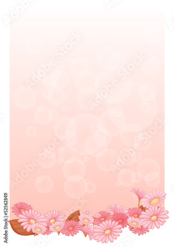 An empty pink colored stationery