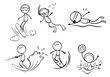 Doodle designs of different outdoor activities