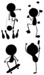Different silhouettes of sports