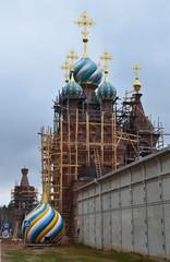 Реставрация храма. Сольбинская пустынь.
