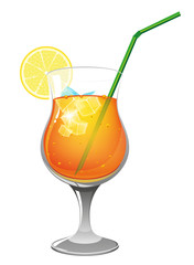 Refreshing orange  cocktail